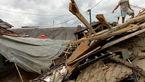ویران شدن چند خانه به دنبال وقوع زمینلرزه اخیر اندونزی+ عکس