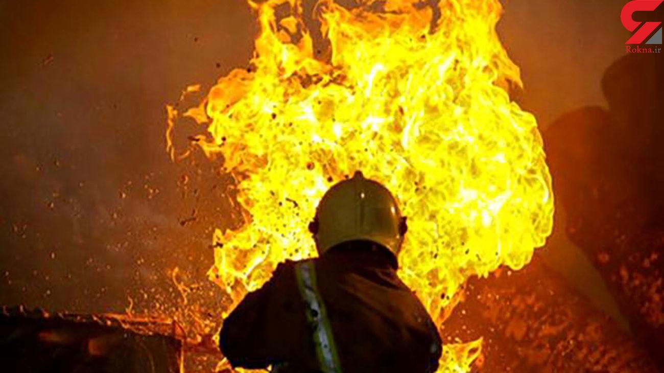 آتش سوزی در بیمارستان نفت شهرک بعثت ماهشهر