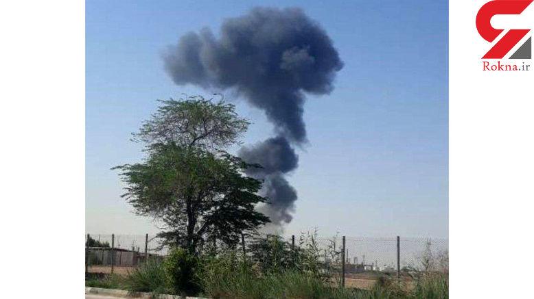 آتش سوزی در پتروشیمی آبادان +عکس