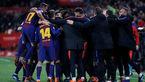بارسلونا؛ تنها یک قدم تا رکورد تاریخی + عکس