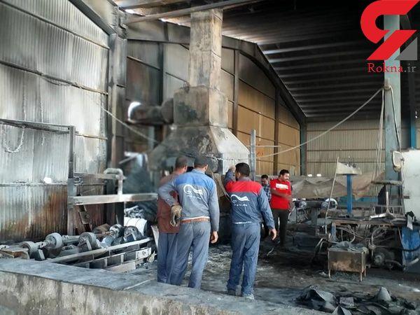 حادثه آتش سوزی در شرکت پویش لوله خوزستان + عکس