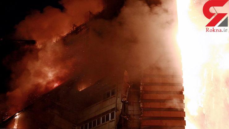 نوزاد 4 ماهه در محاصره  دود و آتش یک ساختمان