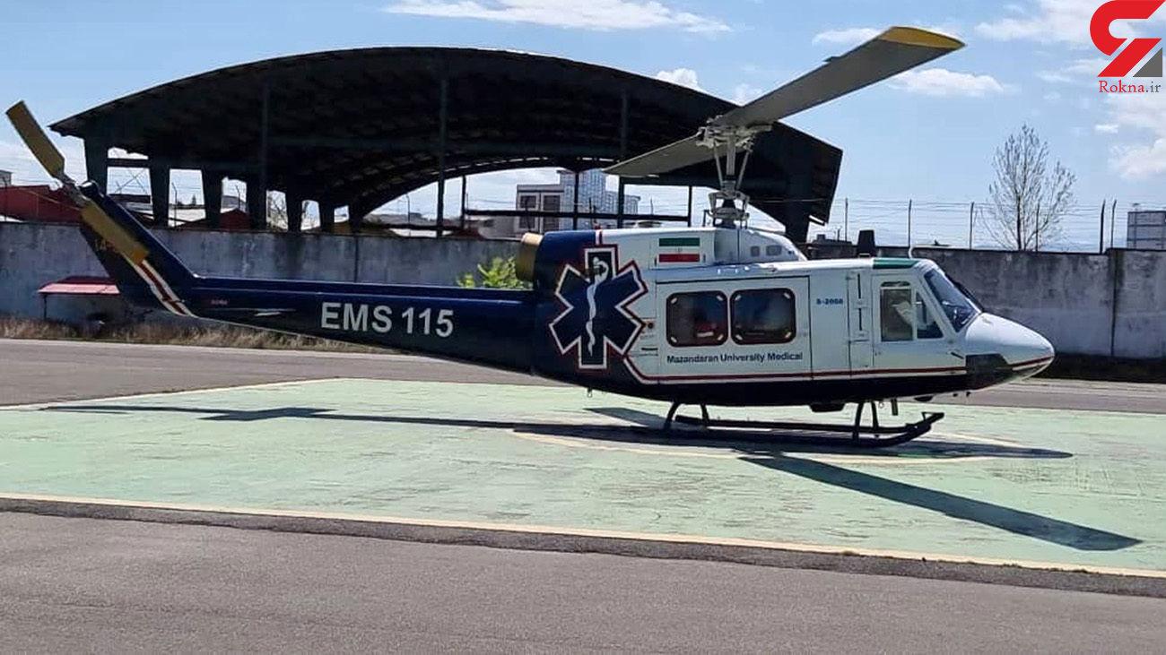 هلیکوپتر امداد برای نجات بیمار سکته ای به پرواز درآمد