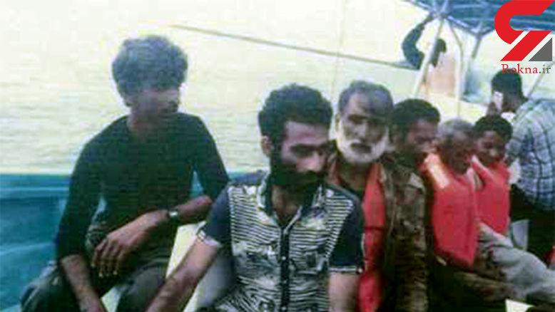 نجات 6 ماهیگیر ایرانی پس از 3 ماه سرگردانی در اقیانوس هند +عکس