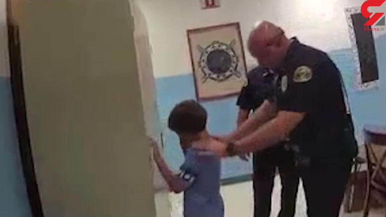 دستبند زدن پلیس به دست کودک 8 ساله + فیلم / امریکا
