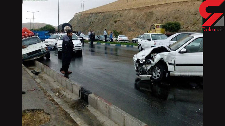 17 نفر در جاده گیلان مصدوم شدند / جاده لغزنده است !