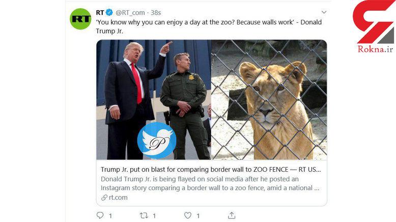 سخنان پسر ترامپ درباره دیوار مرزی جنجال آفرید +عکس
