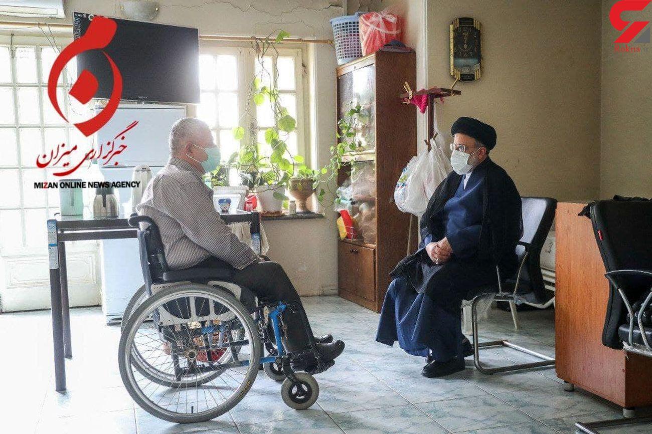 حضور سرزده رئیس جمهور منتخب در آسایشگاه جانبازان امام خمینی (ره) + تصاویر
