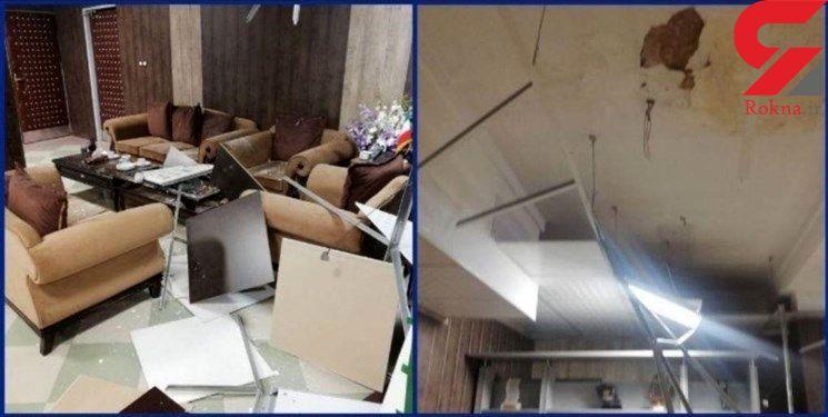سقف اتاق روی سر فرماندار گرمسار خراب شد + عکس