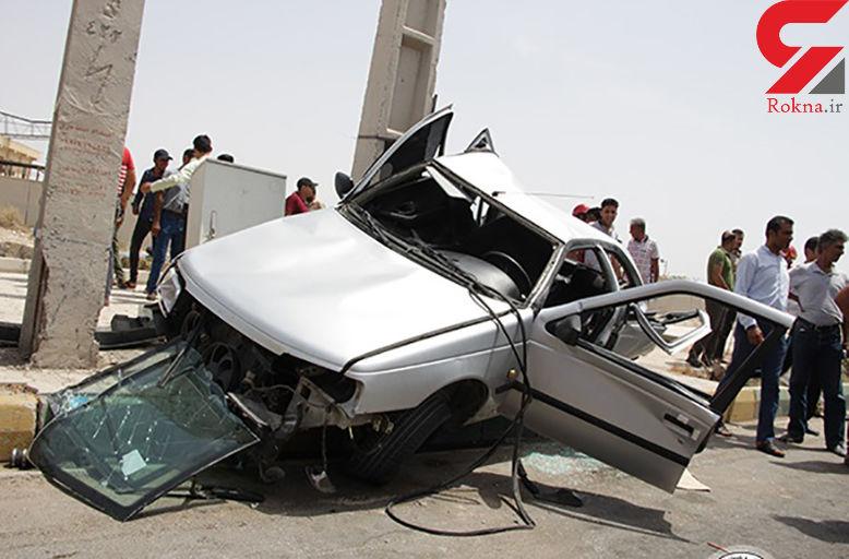 یک کشته و 2 مجروح حاصل برخورد پژو با تیر چراغ برق/ در فارس رخ داد