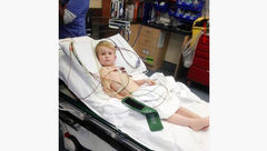 پسر بچه خوش شانس از دست مار کشنده نجات یافت +عکس