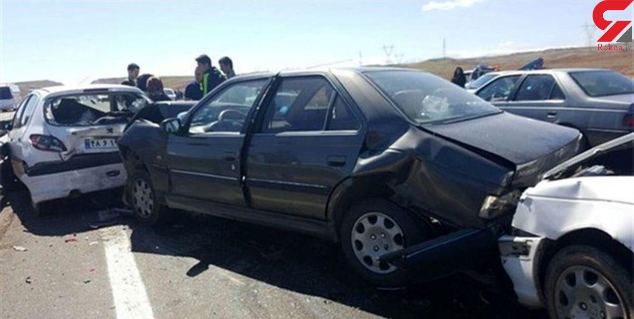 تصادف زنجیره ای یک کشته و 7 مصدوم در چهارمحال و بختیاری بر جا گذاشت