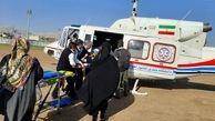 نجات جان زن 40 ساله ایذه ای با امداد هوایی + عکس