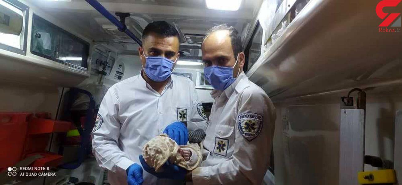 نوزاد عجول سردشتی در آمبولانس بدنیا آمد