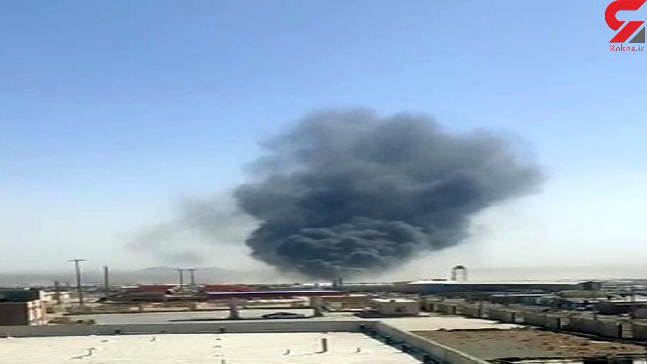 فیلم آتش سوزی بزرگ در پایانه مرزی ایران و افغانستان