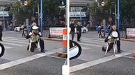 اقدام تحسین برانگیز مامور پلیس در خیابان+ فیلم