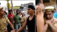 شرور قد بلند دو مامور پلیس را کتک زد و گریخت + فیلم