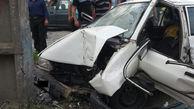 یک کشته و 4 مجروح در تصادف جاده ای صومعه سرا