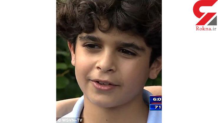 پسر 9 ساله جان یک نوزاد را نجات داد + فیلم حادثه