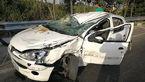 تصادف زنجیره ای شدید در تهران + عکس پژو له شده