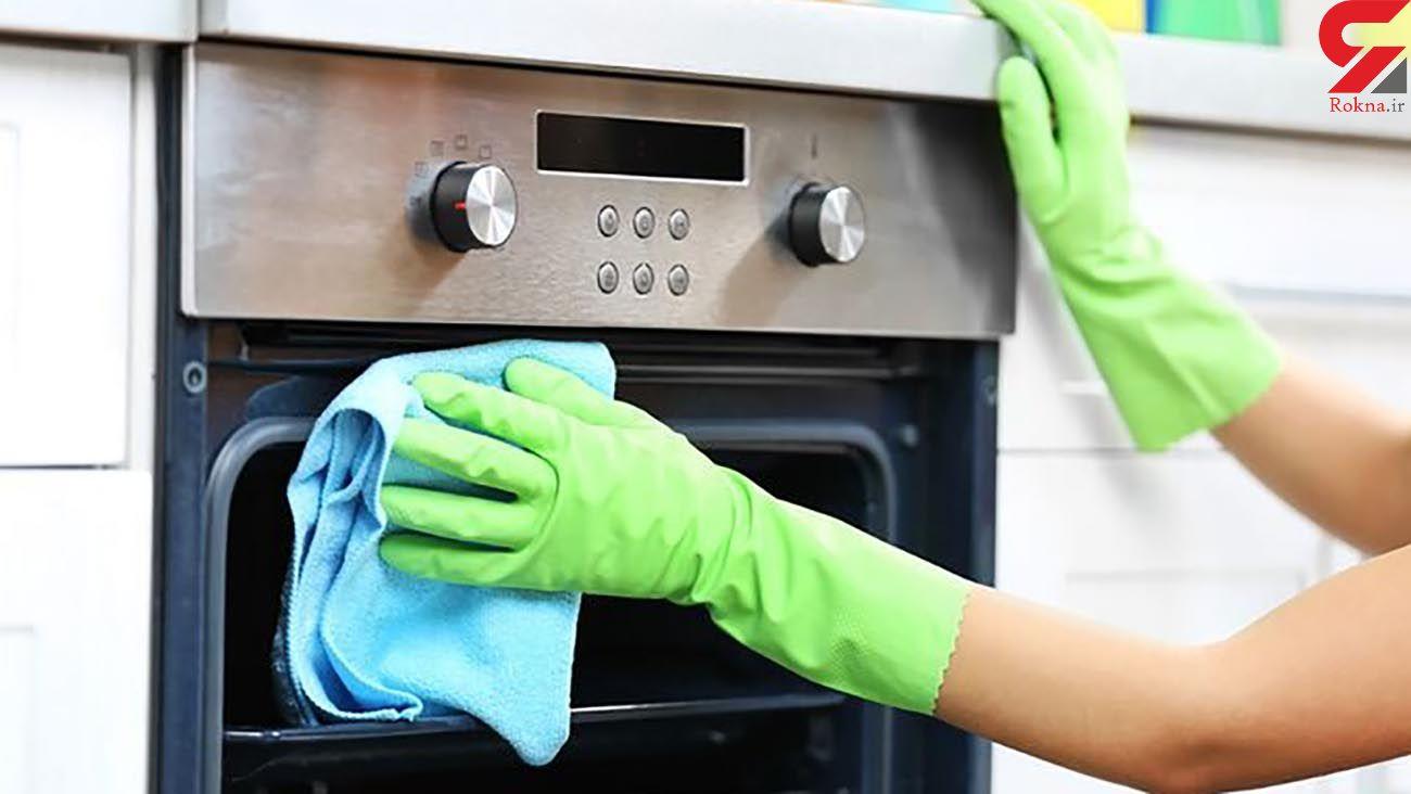 ۶ ترفند ساده برای تمیز کردن اجاقگاز