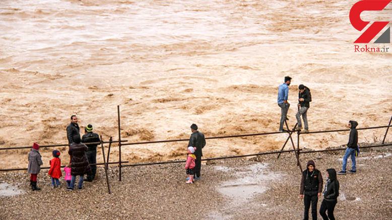 سیل و طغیان رودخانهها در جنوب استان بوشهر خسارت به بار آورد + فیلم و عکس