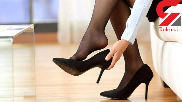 جلوگیری از پوشیدن کفش پاشنه بلند+عکس