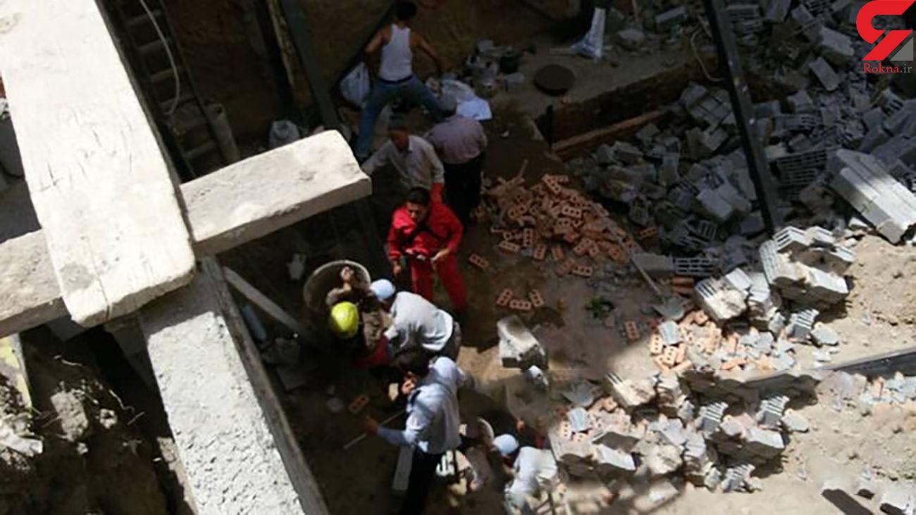 حادثه در تبریز / ریزش آوار ساختمان در حال ساخت با یک مصدوم