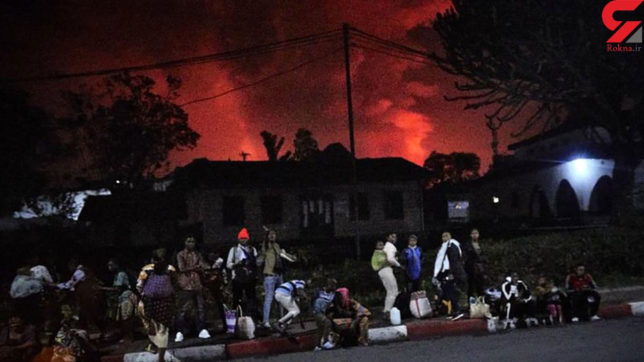 فوران آتشفشان منجر به تخلیه شهر شد