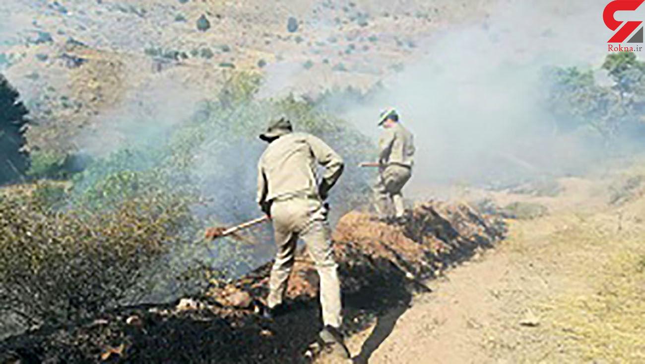 آتش سوزی منطقه کزج خلخال
