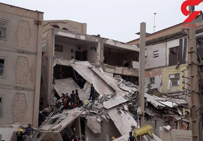 عملیات آواربرداری حادثه ریزش ساختمان در اهواز تمام شد