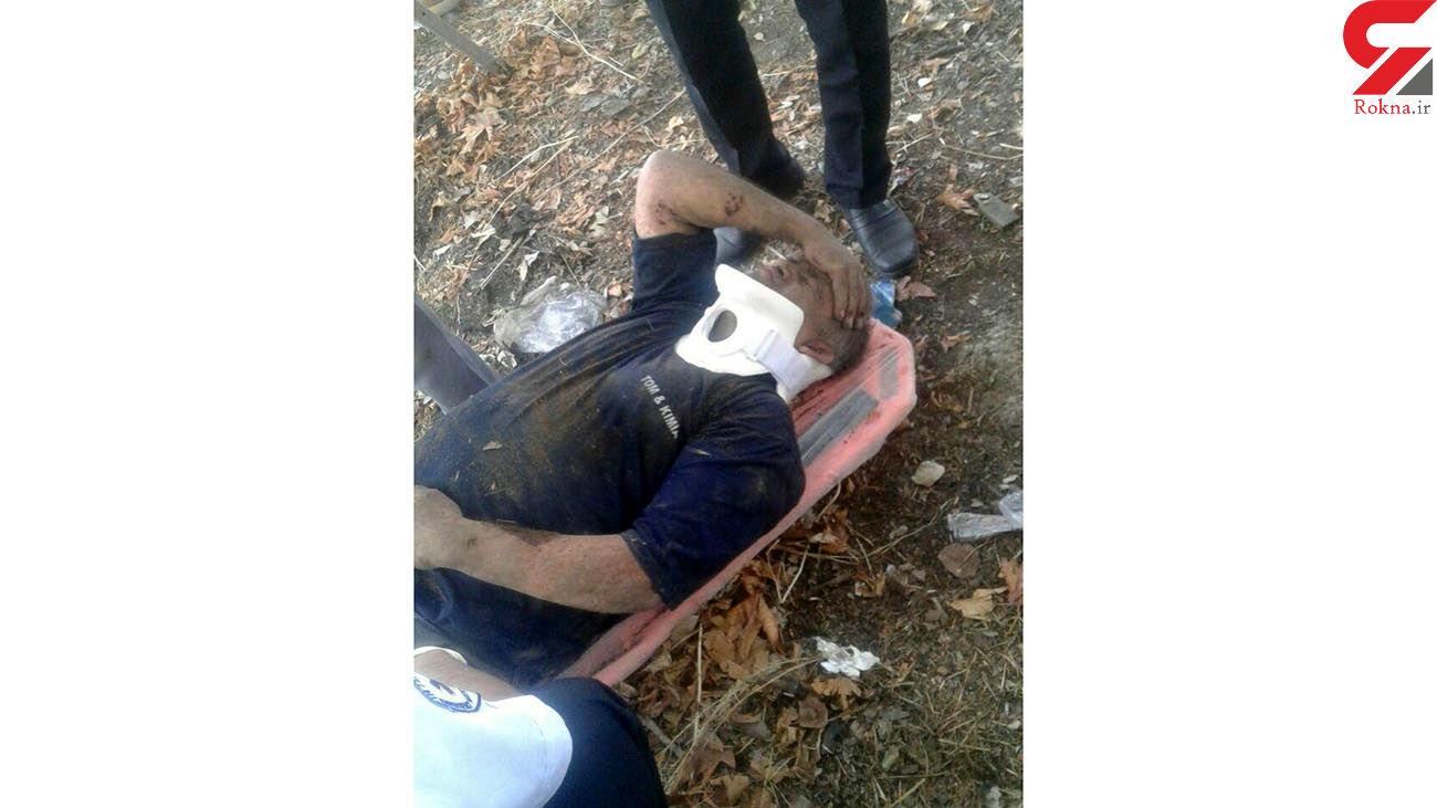 سقوط مرد جوان به عمق چاه 30 متری در محمدشهر + عکس
