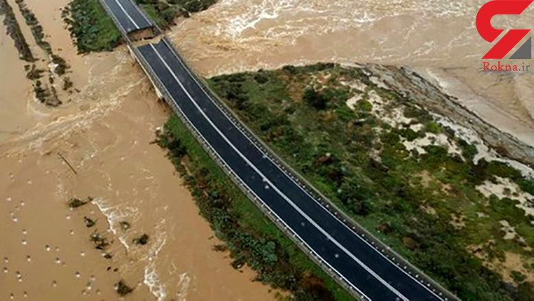 یک پل دیگر در ایتالیا فروریخت + عکس