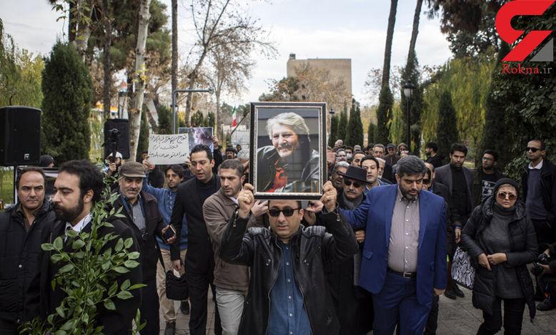 مراسم خاکسپاری تورج شعبانخانی + فیلم و عکس