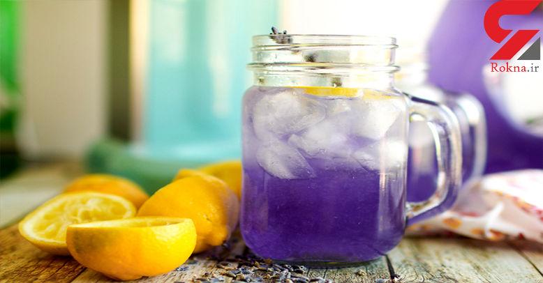 شربت گل اسطوخدوس با لیمو ترش معجونی برای آرامش+دستور تهیه