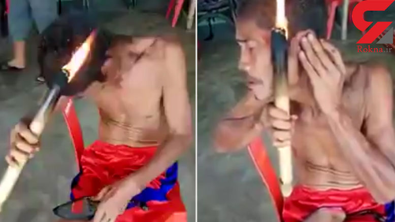 کوتاه کردن مو به روش کز دادن با آتش! + فیلم