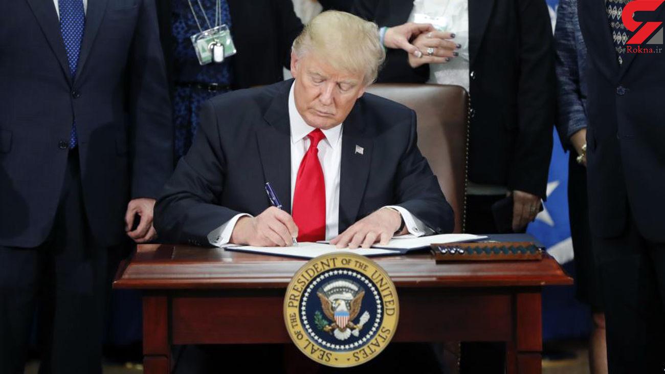 ترامپ فرمان دور اول تحریم علیه ایران را امضا کرد + عکس