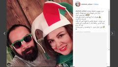 تیپ عجیب بازیگر معروف زن با کلاه فوتبالی! عکس