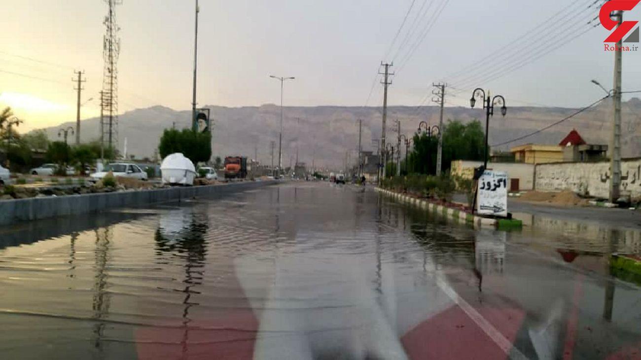 باران تابستانی برخی نقاط استان بوشهر را فراگرفت