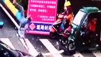 تصادف وحشتناک موتورسیکلت سوار در چهار راه مرگ+ فیلم