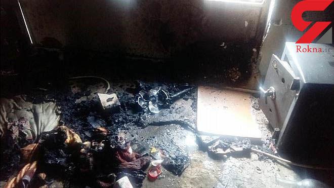 آتش سوزی مرگبار خانه قدیمی در جنوب تهران + تصاویر