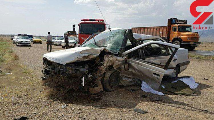 یک کشته و ۳ مجروح در حادثه رانندگی جاده مراغه-هشترود + عکس