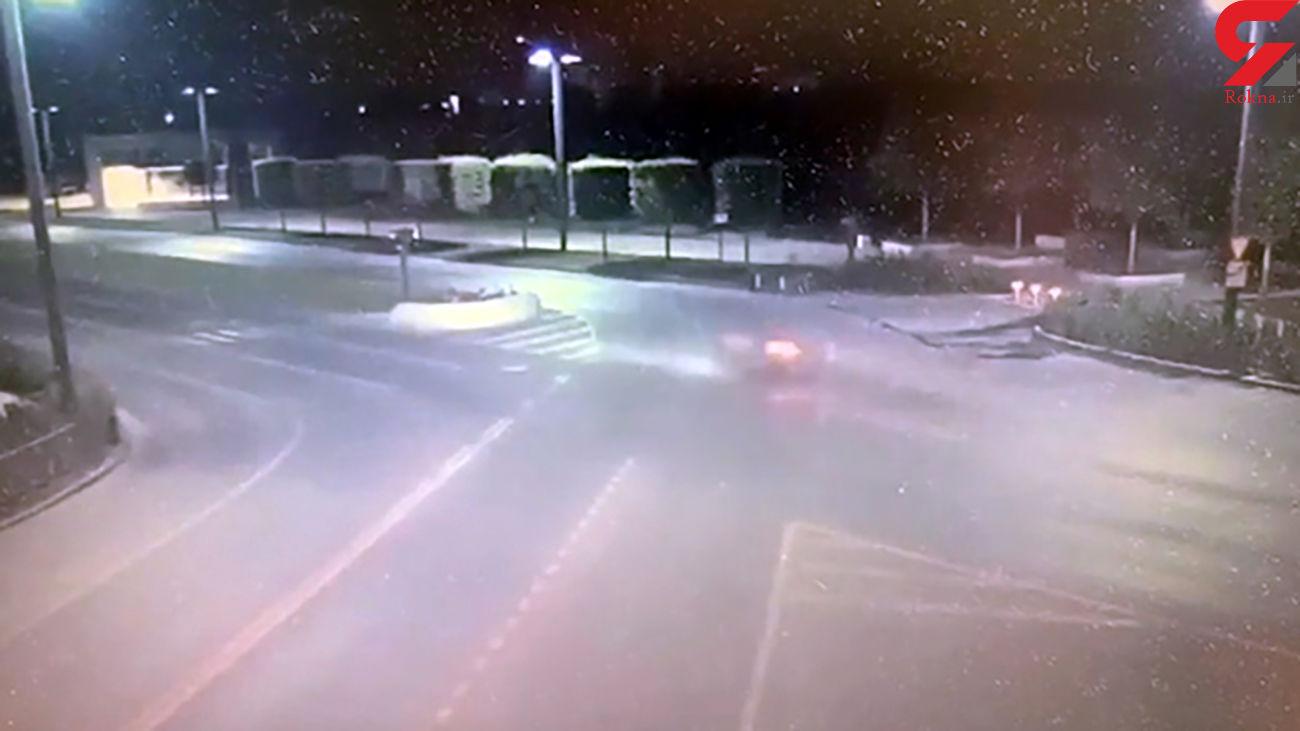 تصادف مرگبار موتورسیکلت در روسیه + فیلم