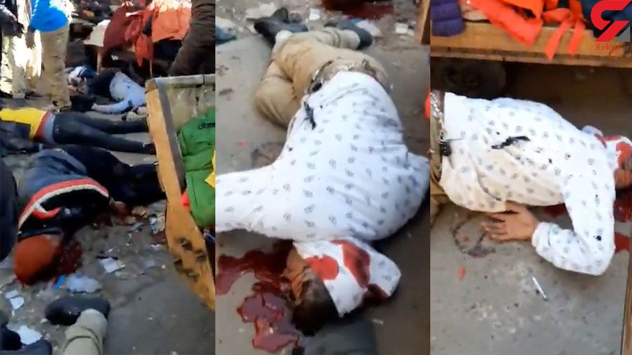 فیلم جنازه های کشته شده در انفجار بغداد / بعضی ها هنوز زنده اند + جزییات