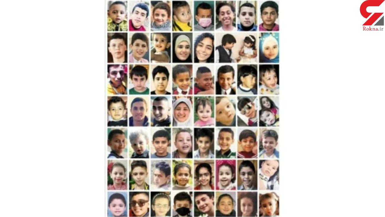 شهادت 67 کودک فلسطینی در جنگ غزه + عکس ها