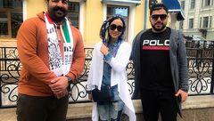 بازیگر زن به همراه دو خواننده معروف در روسیه +عکس