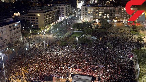 تظاهرات هزاران نفری در تلآویو و اعتراض به خشونت علیه زنان +عکس