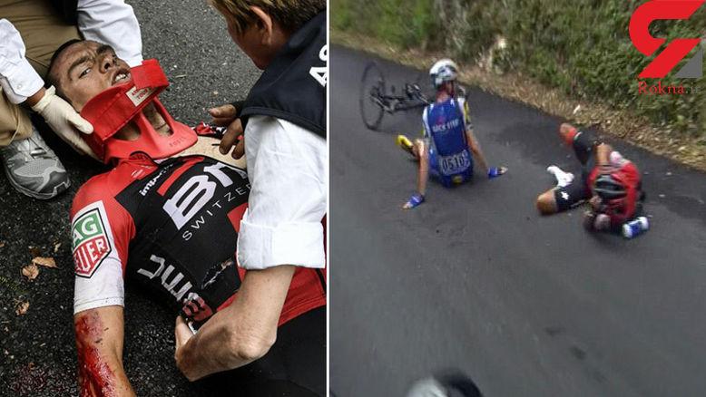 حادثه شدید در تور دوچرخهسواری +فیلم و عکس