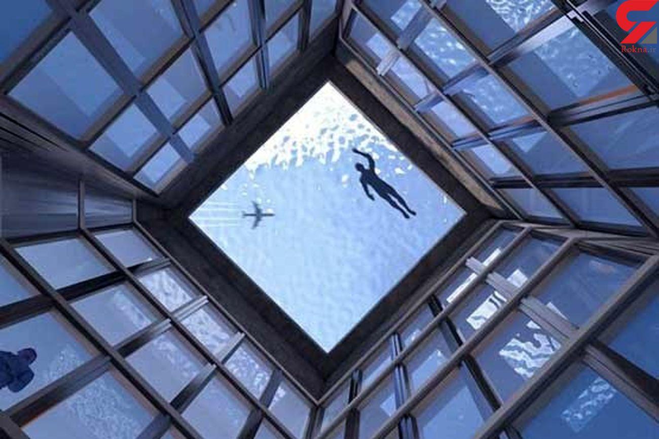 اولین استخر ۳۶۰ درجه ای جهان در لندن ساخت انگلیس + عکس