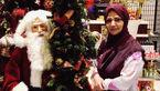 مجری دهه شصتی ها در کنار بابانوئل